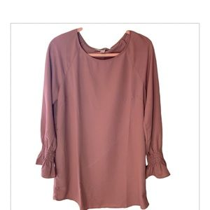 Forever 21 Long Sleeve Rose Pink Top - Size Large